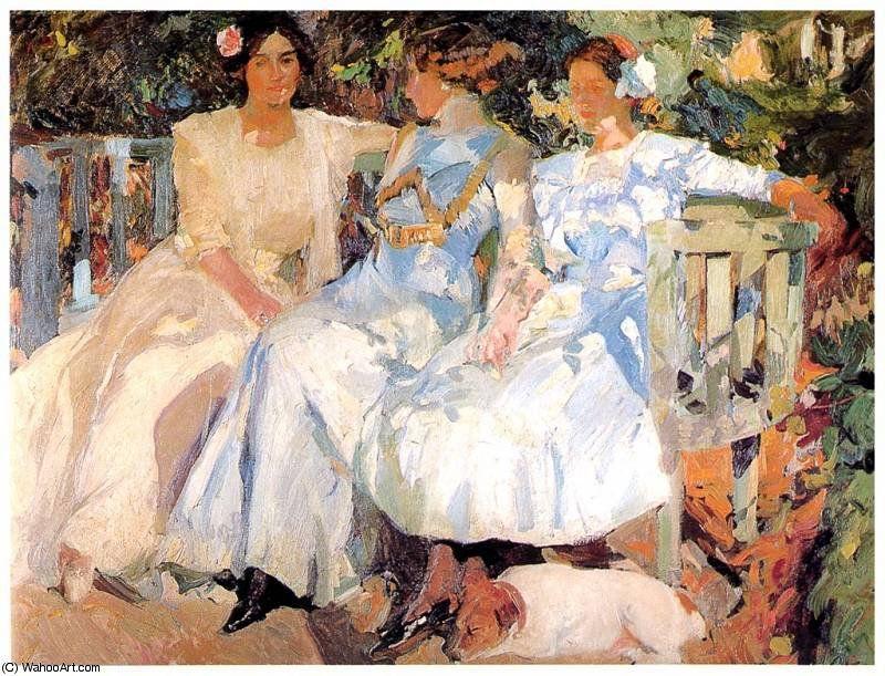 Image result for Mi mujer y mis hijas en el jardín sorolla