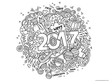 New Year Coloring Pages (2) | Craft ideas | Pinterest | Arte