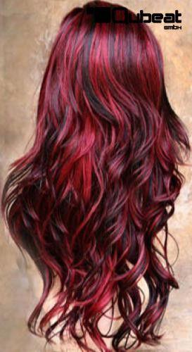 Haare rot schwarz