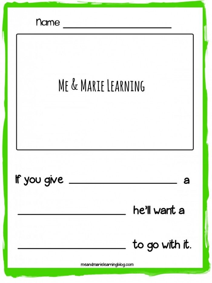FREE Preschool Writing Template to use with Laura Numeroffu0027s  - writing template