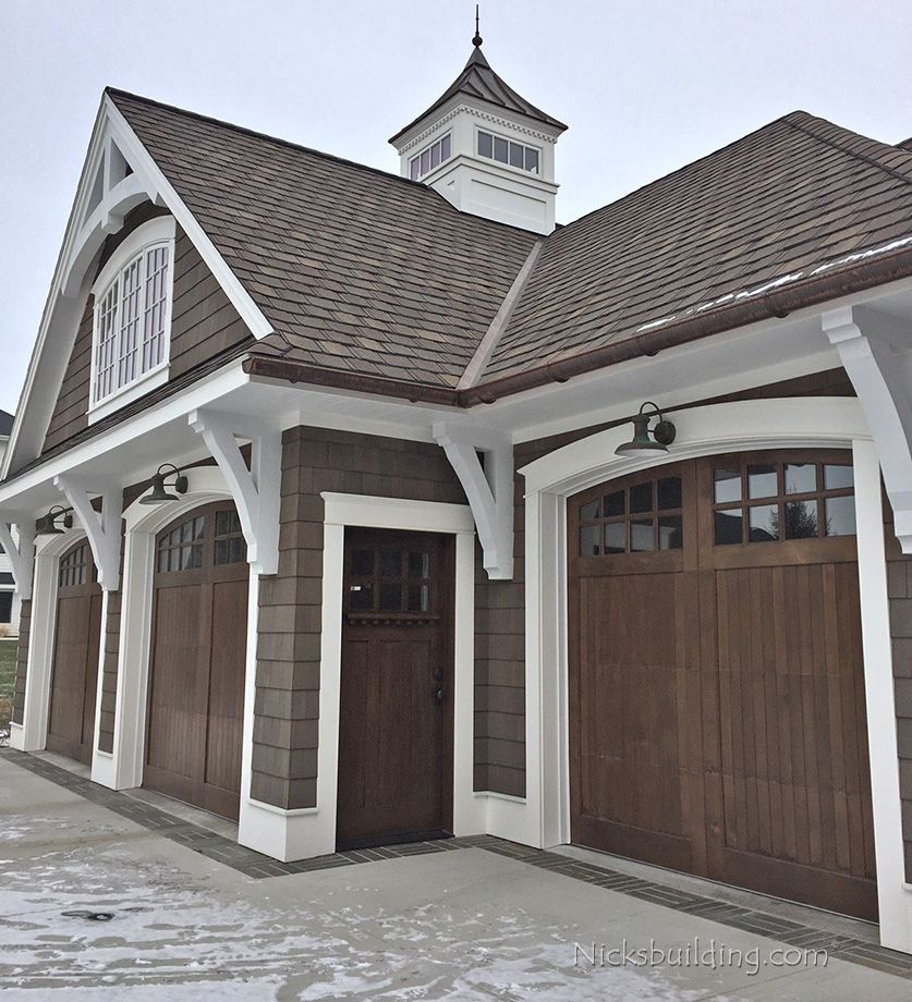 Knotty Cedar Garage Doors After Remodel Awesome House Ideas
