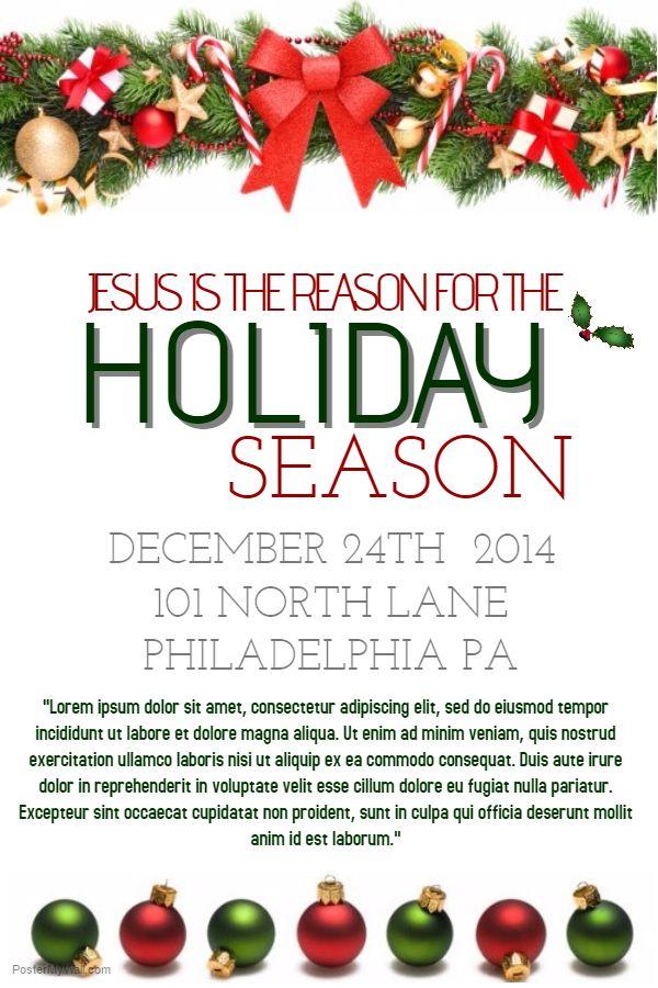 Holiday Season Poster Template Christmas Poster Templates - christmas poster template