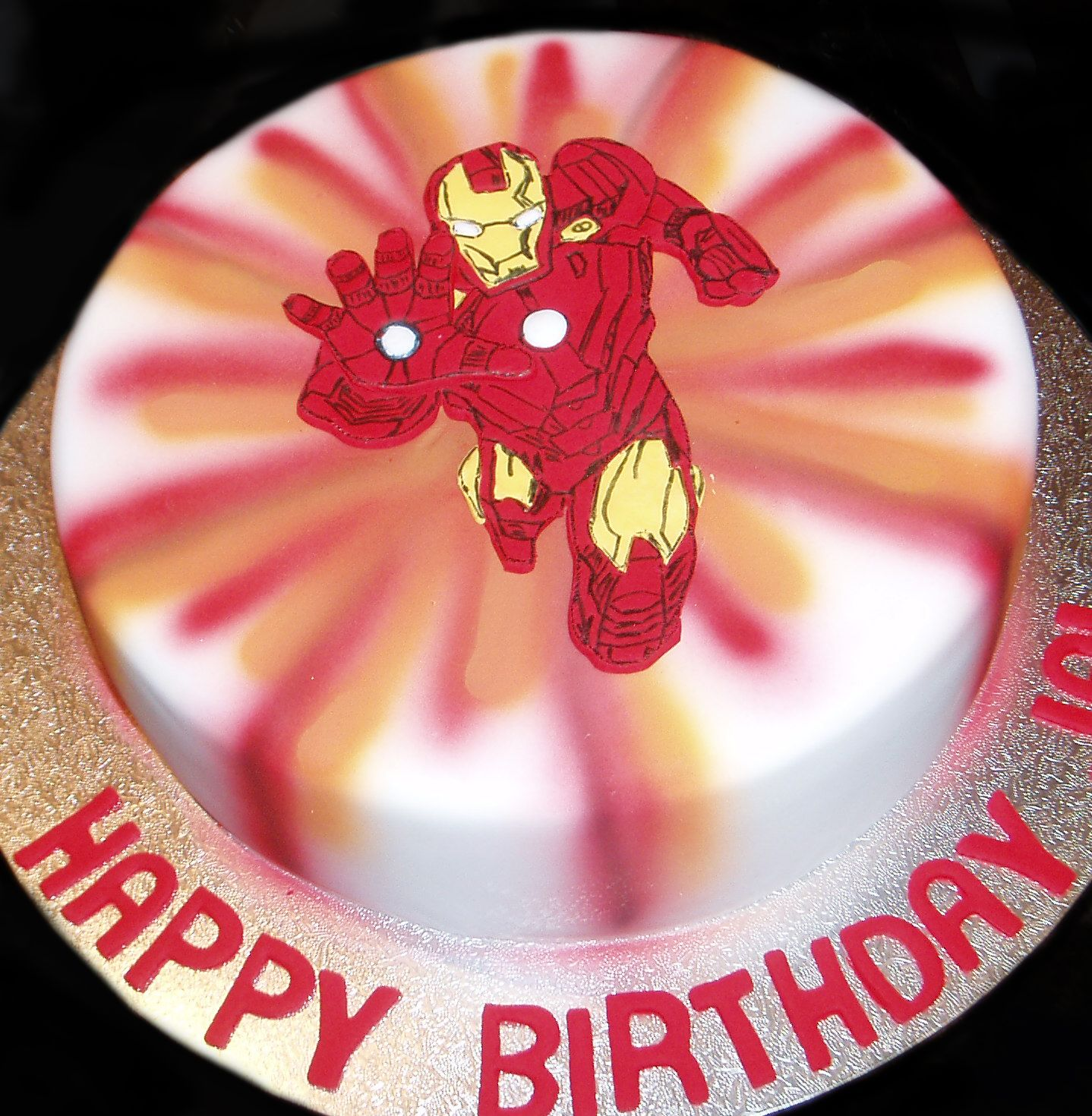 Iron man birthday cake by nadas cakes canberra