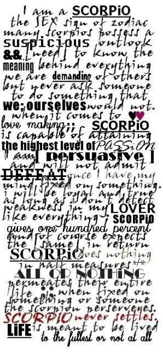 Essence of Scorpio - to the fullest or not at all | scorpio