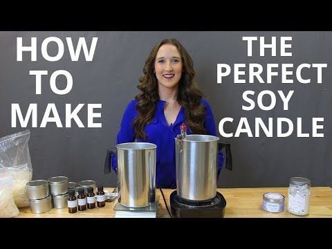 How To Make Soy Candles DIY Candle Making Tutorial - YouTube