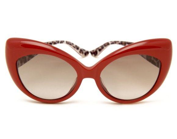 b383a6559b2 Moschino Red Cat Eye Sunglasses