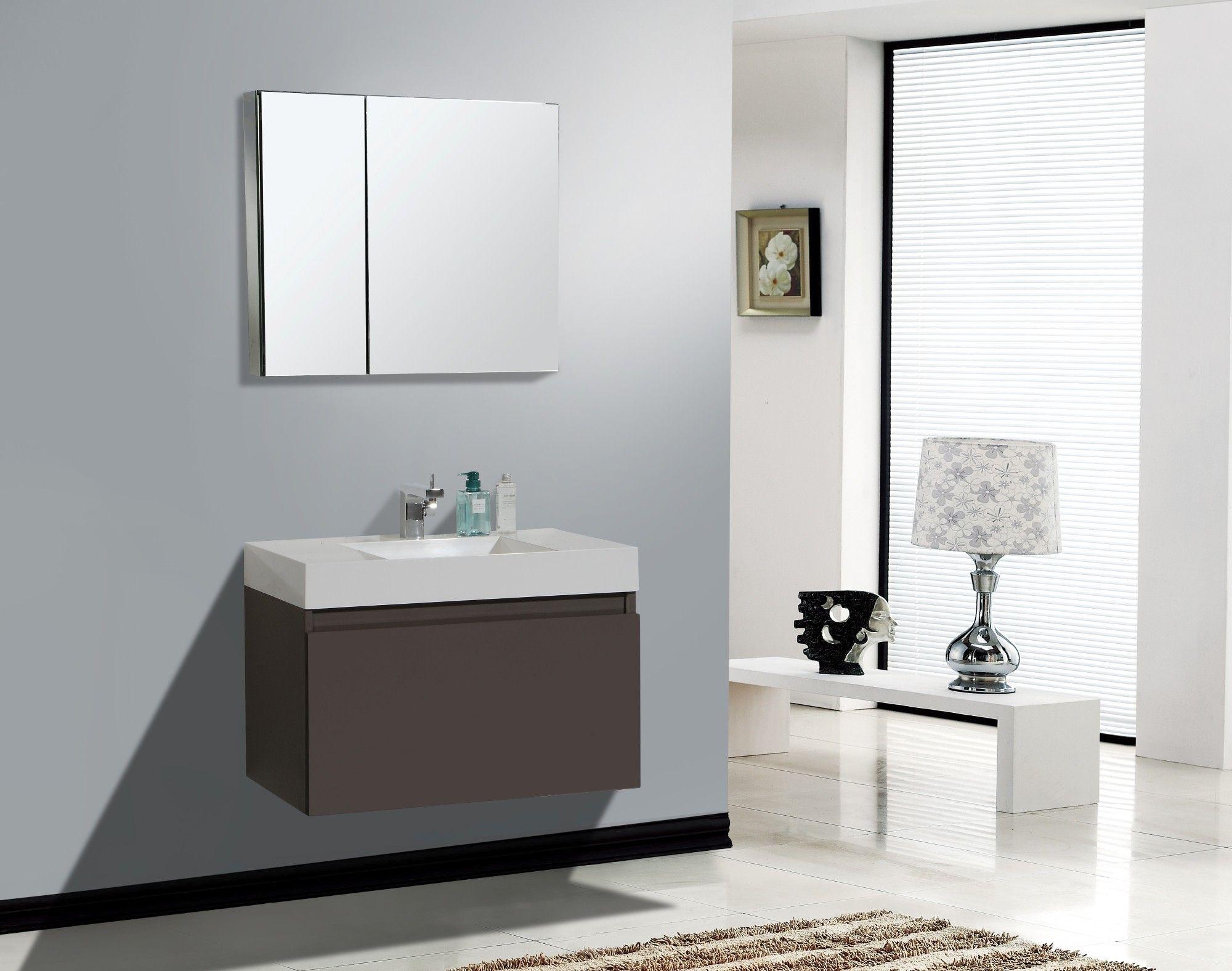 AQUA DECOR Venice 31.5-Inch (Infinity Sink) Modern Bathroom Vanity ...