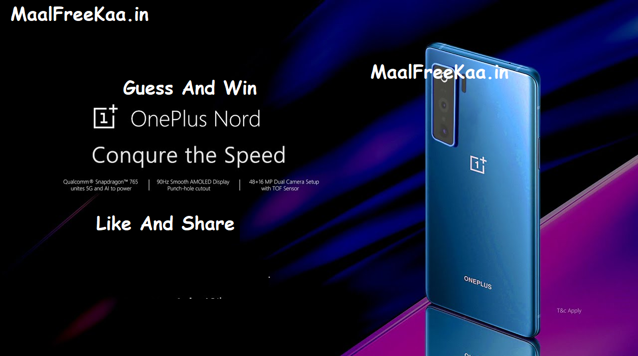 OnePlus Nord Guess The Specs And Win OnePlus Nord FREE in