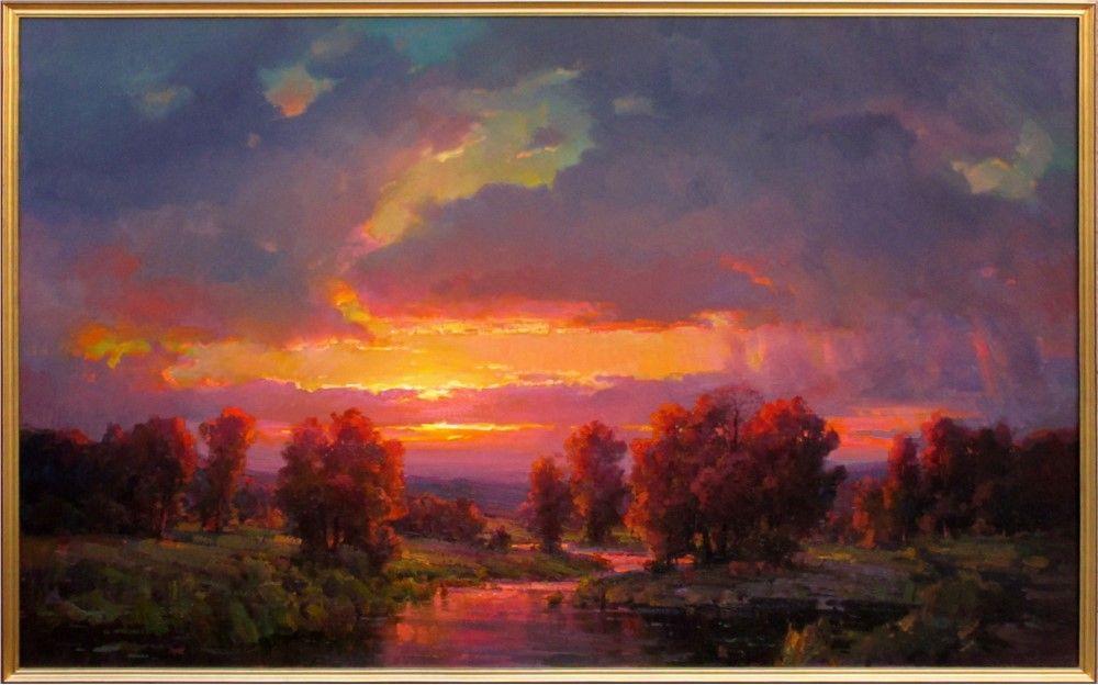 Sunset Sunset Art Landscape Paintings Oil Painting Landscape