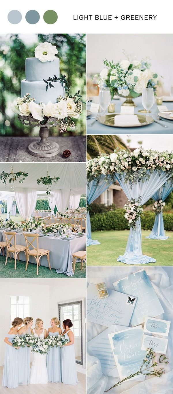 Top 5 Light Blue Wedding Color Ideas For Springsummer 2019 Espi