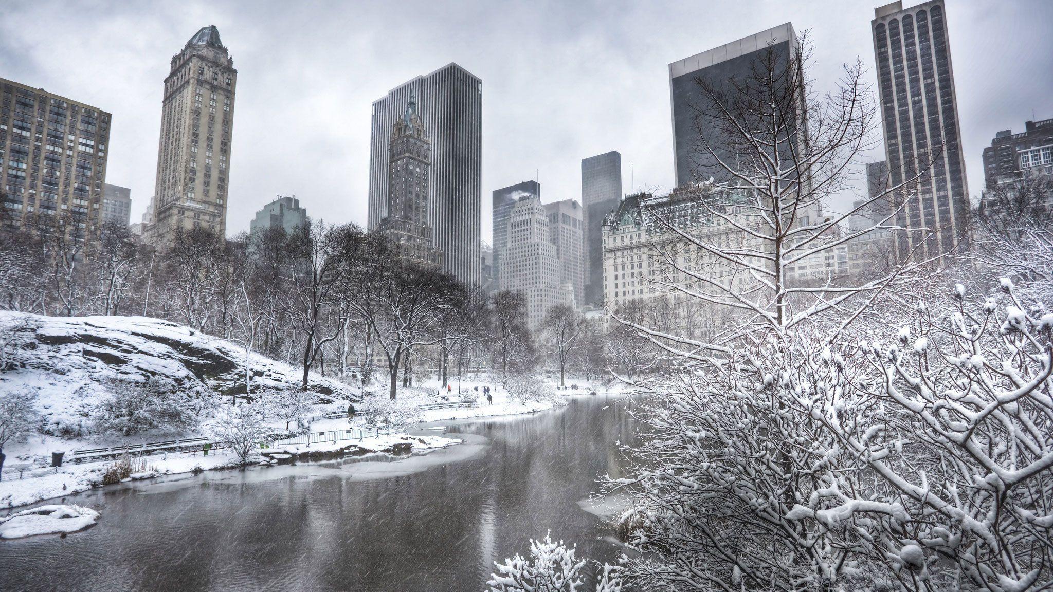 Wa11papers Ru Cities Winter 15 12 2013 2048x1152 021 Jpg 2048 1152 Central Park Manhattan New York Wallpaper Winter Wallpaper