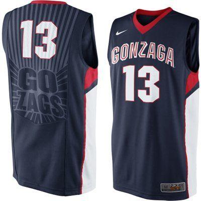 Gonzaga Bulldogs Nike Elite Basketball Jersey Navy Blue Color
