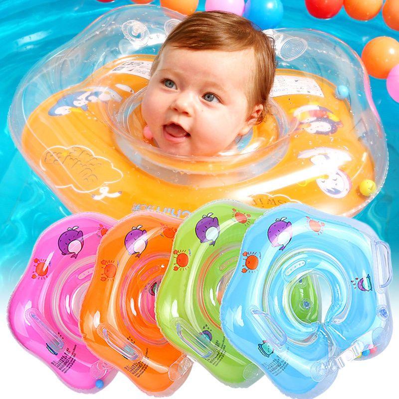 Inflatable Circle Newborn Neck Float Infant Baby Swimming Swim Ring ...