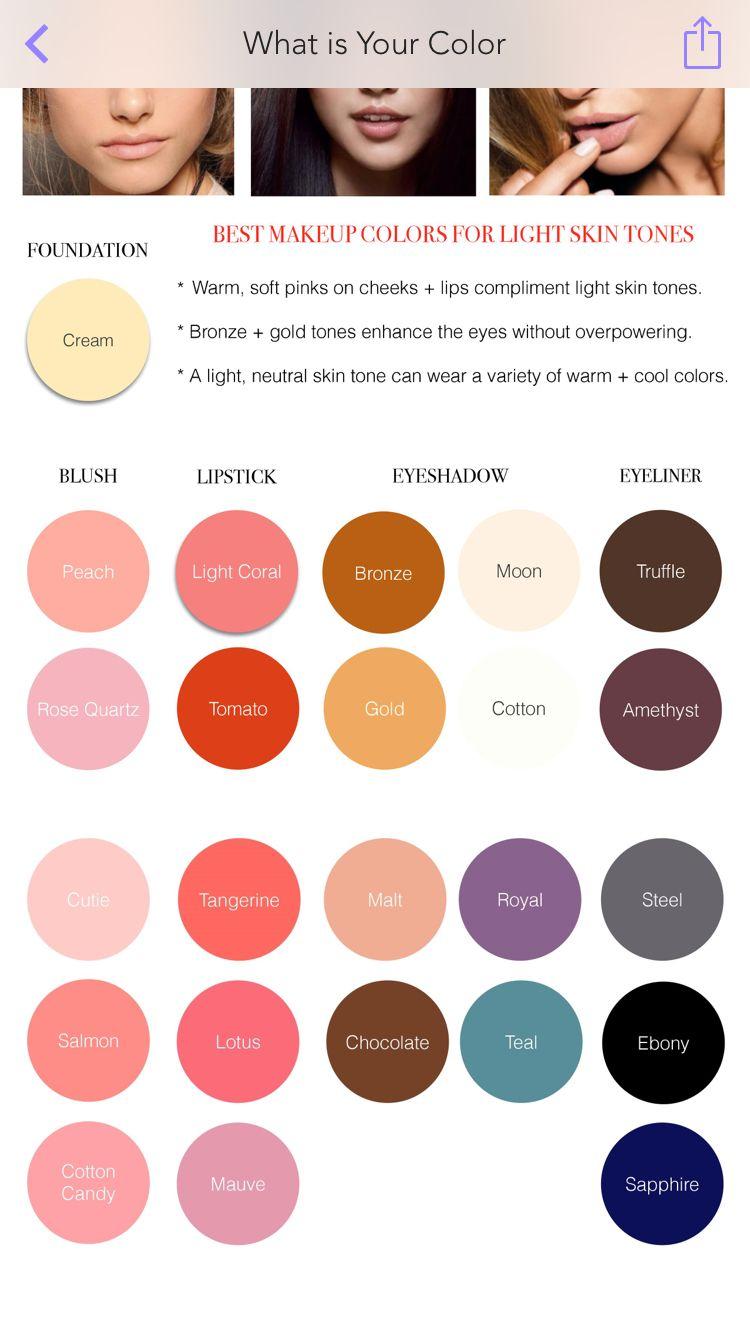 Makeup Color Palette For Light Olive Skin Colors For Skin Tone