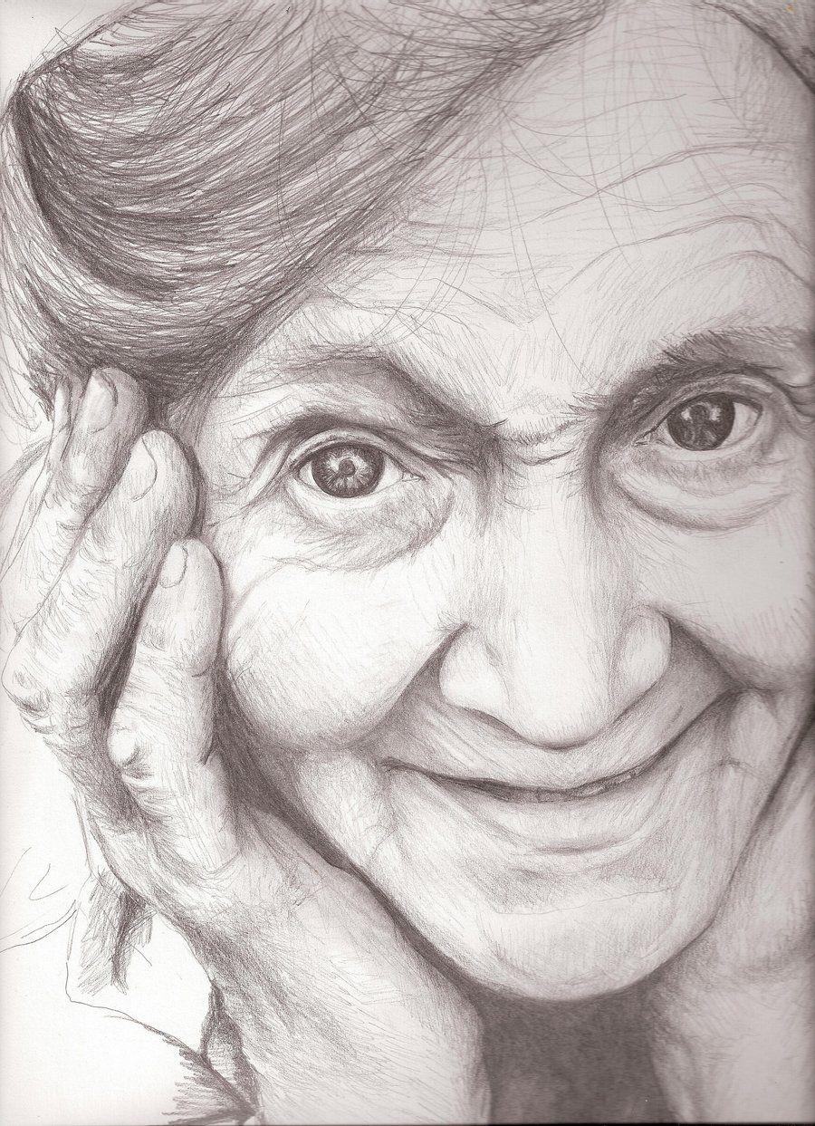 Цветов, пожилые люди рисунок
