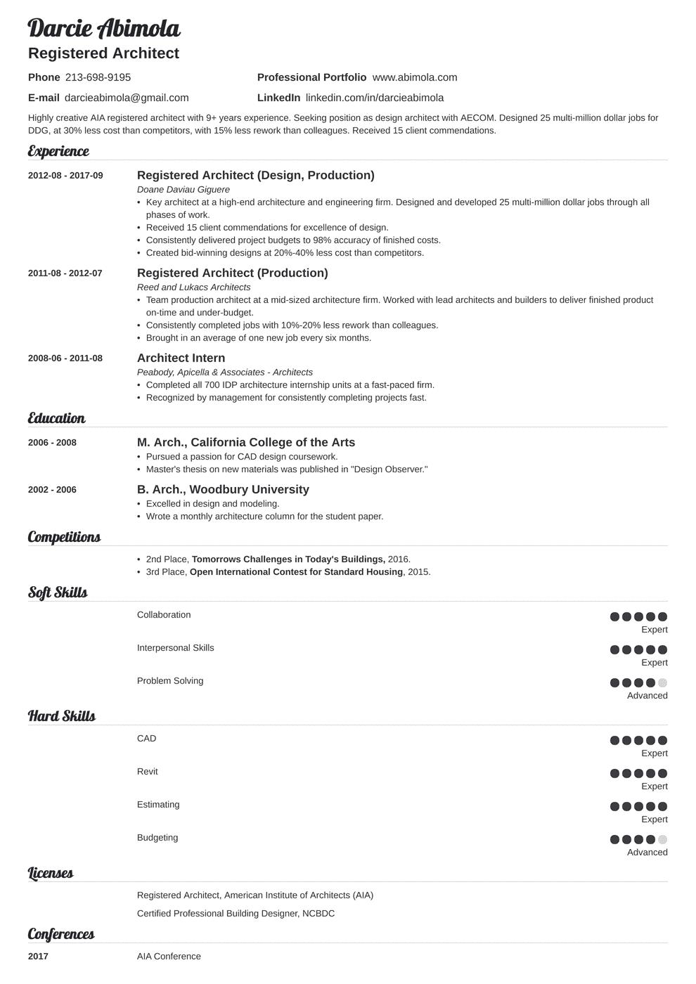 Architecture Resume Template Valera Architecture Resume Architecture Jobs Job Resume Examples