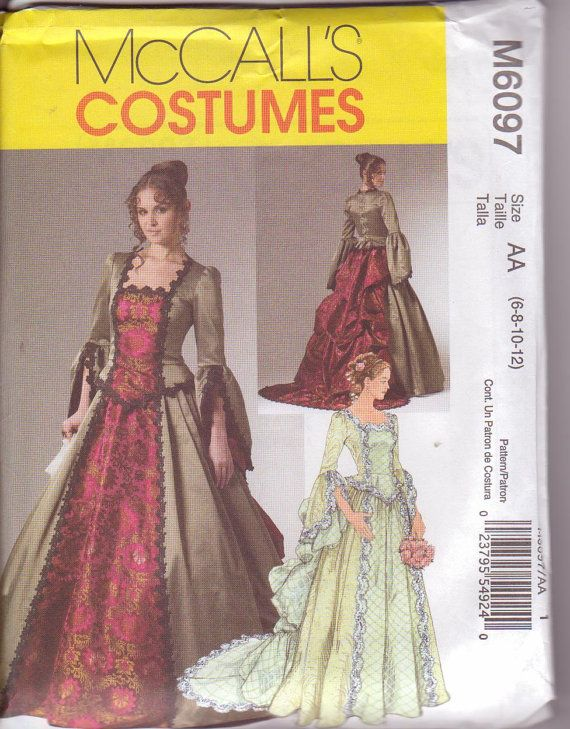 McCalls 6097 Misses Medieval Victorian Renaissance Costume