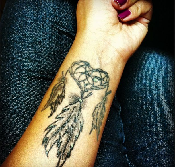 My Native American Tattoo. Dreamcatcher cogito ergo sum -- I think therefore I am