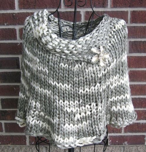 Knitting On The Fringe Kelly Machado Quick Knit Capelet Tricot