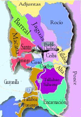 Mapa de Los Barrios - Penuelas Puerto Rico. Peñuelas is a ...