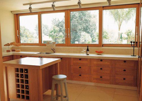 Ventana corredera de aluminio madera con doble vidrio for Ventanas de pvc doble vidrio argentina