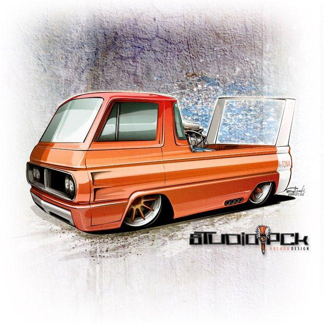 Car Drawings: Drawing Cars – Blown Dodge A-100!