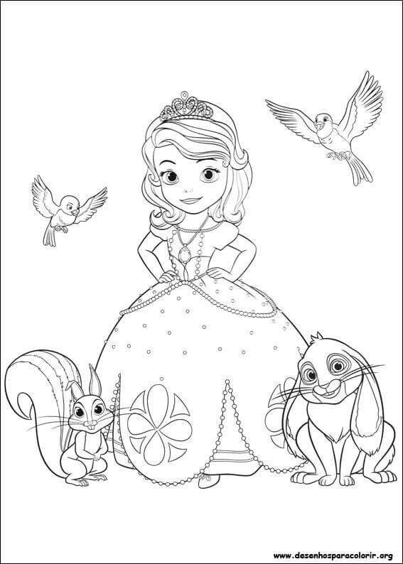 Pin De Thelminha Mara Em Princesas Princesa Sofia Para Colorir