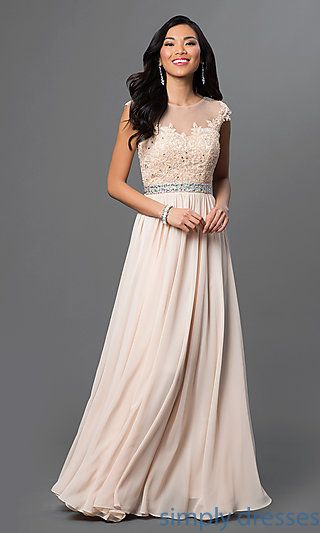 Floor Length Embroidered Lace Top Formal Gown En 2019 Vestidos