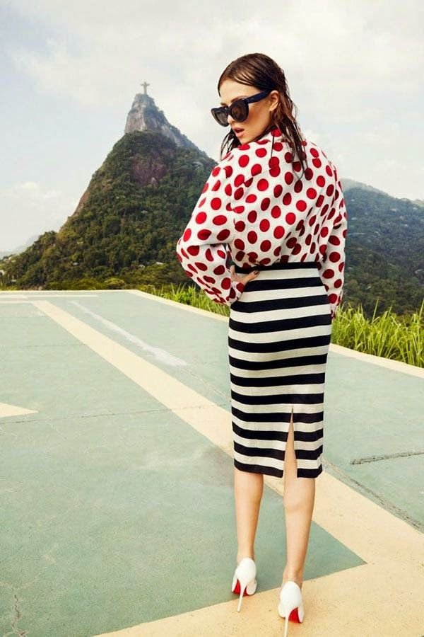 FASHION AND STYLE Polka dots  stripes outfits Random Inspiration