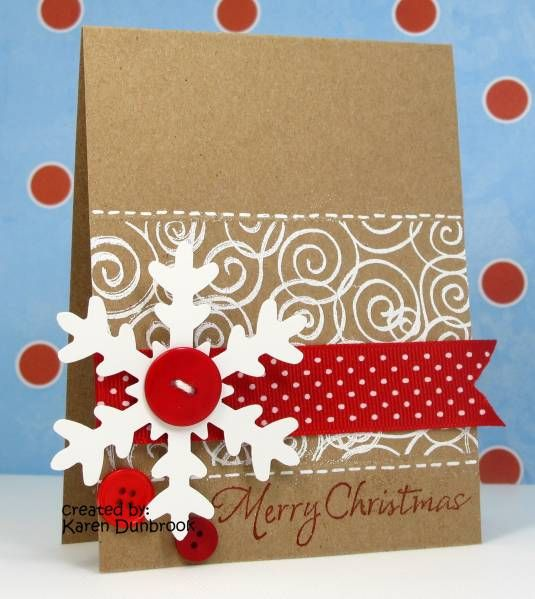 Ic259 Cas93 Snowy Christmas By K Dunbrook Cards And Paper Crafts