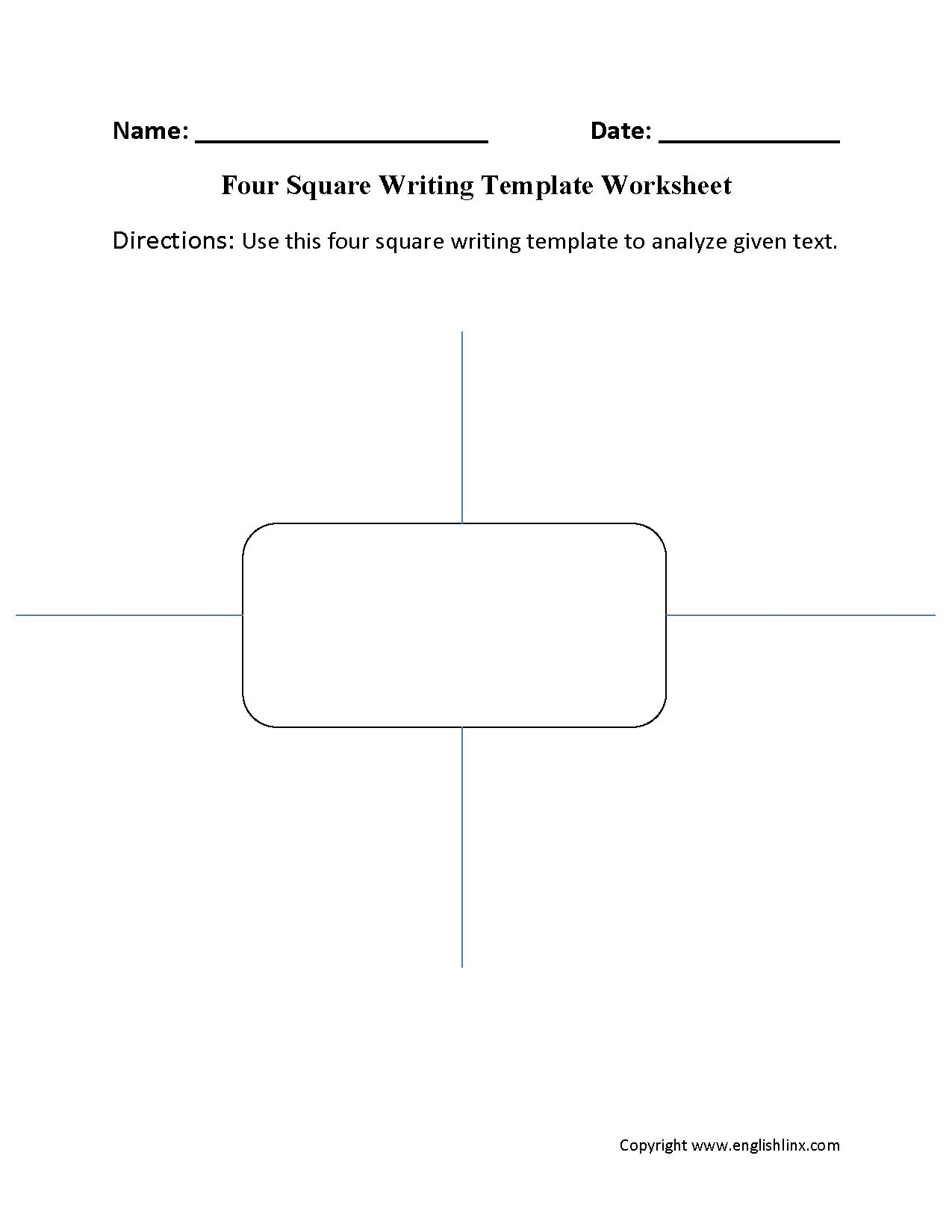 The Astounding Writing Template Worksheets Four Square Writing Template For Blank Four Square Writin In 2020 Four Square Writing Writing Templates Writing Worksheets