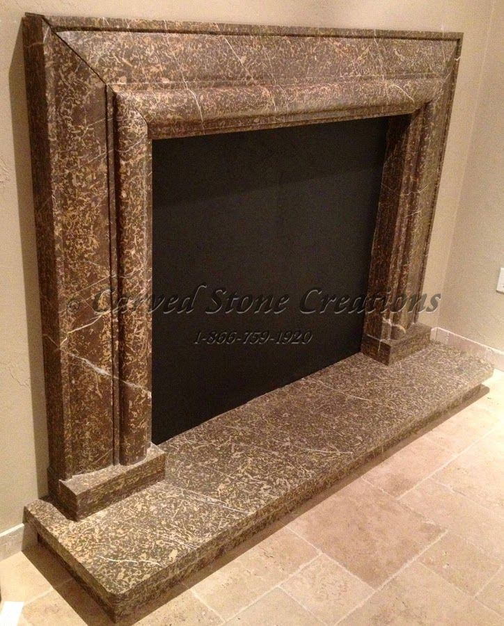 Perfection Fireplace Part - 36: This Beautiful Earth-toned Fireplace Surround Is Hand Carved From Coffee  Brown Marble And Polished