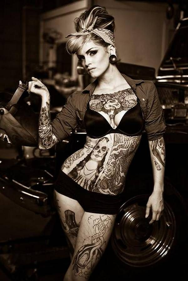 pin and Rat up girls tattoos rods