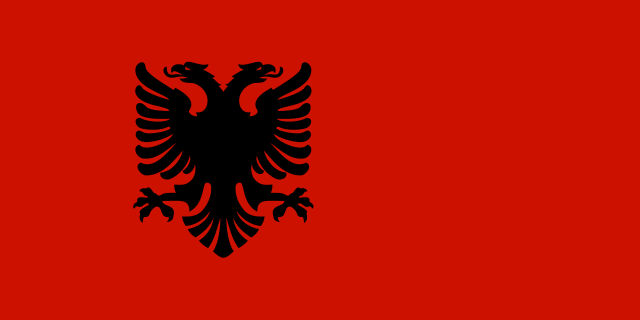 Flag Of Albania Wikipedia Albanian Flag Historical Flags Albania Flag