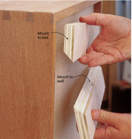 The French Cleat A Great Way To Hang Cabinets Or Shelving