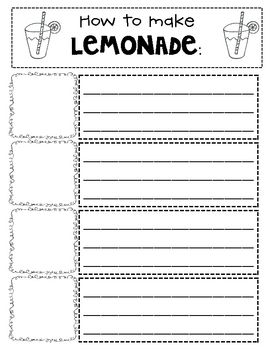 How To Make Lemonade  Another Writing Activity  Cool School