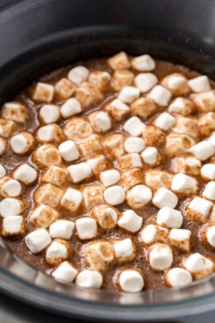 Crockpot Hot Chocolate Is Made With Heavy Cream Milk Sweetened Condensed Milk Chocolate Coco In 2020 Crockpot Hot Chocolate Hot Chocolate Recipes Chocolate Recipes