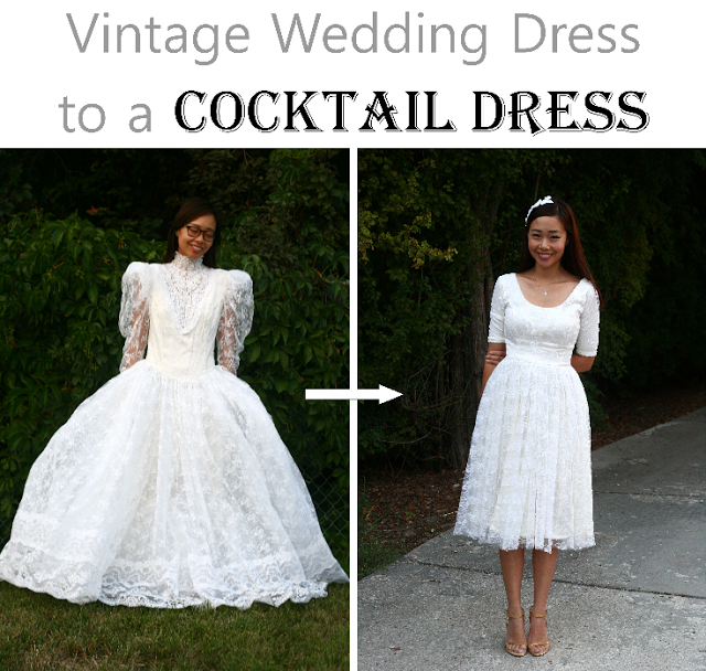 Diy Vintage Wedding Dress To A Tail