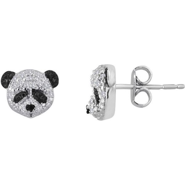 Panda Earrings - Sterling Silver - Various Colours eip4rnGs4K