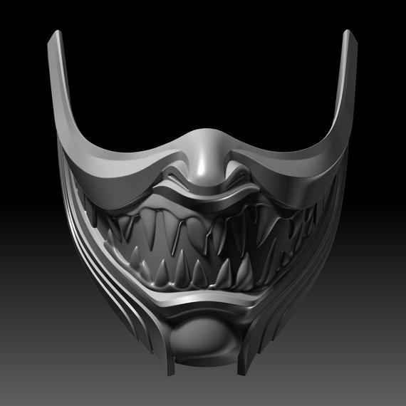 Scorpion Mask Hanzo Face Mortal Kombat 11 3d Printable Model Etsy 3d Printable Models Mortal Kombat Print Models