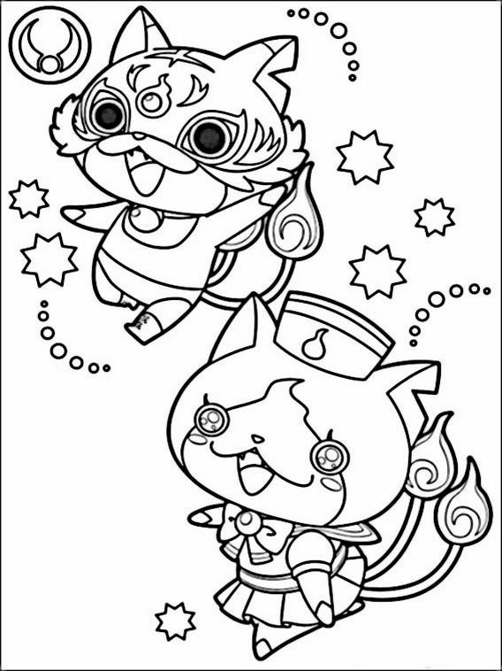 Yo-kai Watch Coloring Pages 1 | 著色圖 Coloring Figure ...