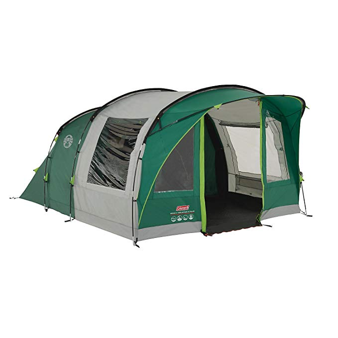 Amazon Com Coleman Rocky Mountain 5 Tunnel Tent 5 Person Green With Blackout Windows Sports Outdoors In 2020 Tunnel Tent Family Tent Tent