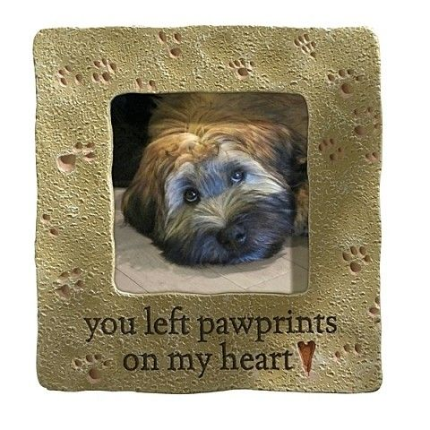 You Left Pawprints on My Heart, 3 x 3 Photo Frame, by Grasslands ...