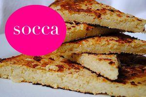 'socca' - vegan gluten free flatbread