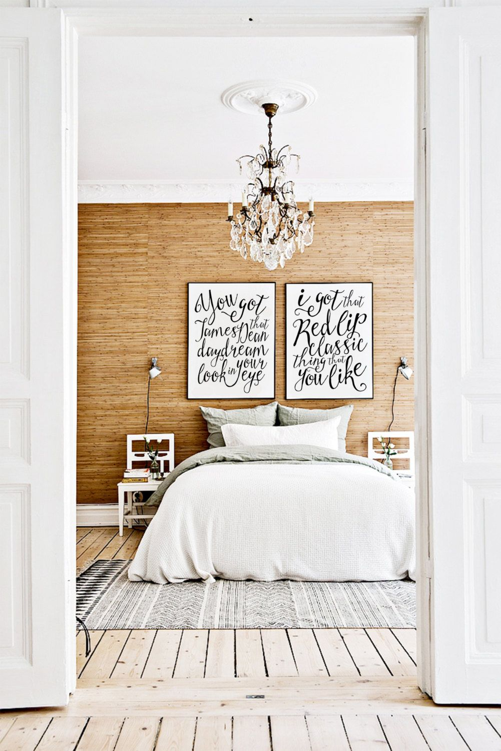Master bedroom art above bed  Taylor Swift James Dean Daydream Look In Your by DesignsBySpec