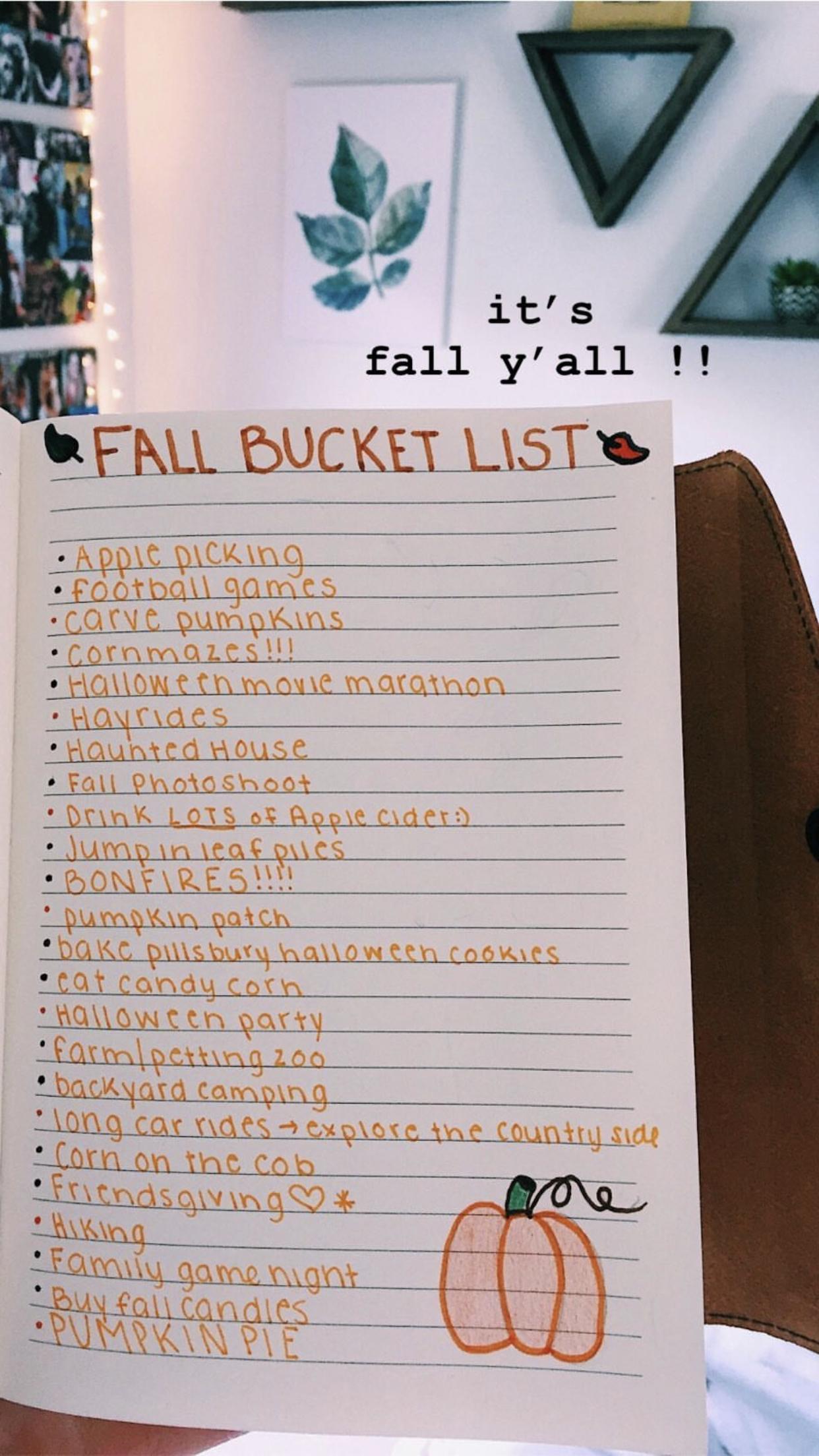 Fall Bucketlist
