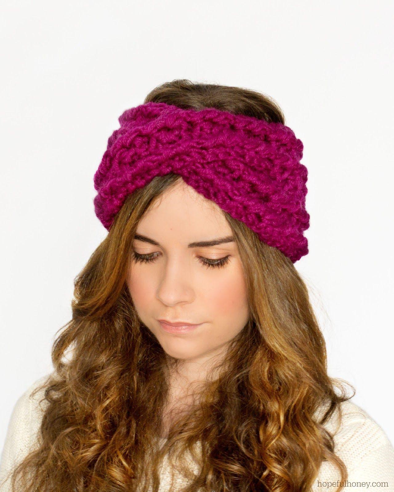 Chunky Criss-Cross Headband Crochet Pattern via Hopeful Honey ...