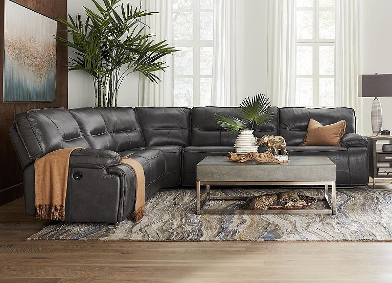 Living Rooms Galaxy Sectional Living Rooms Havertys Furniture Leather Sofa Living Room Leather Couches Living Room Grey Leather Sofa