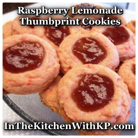 Raspberry Lemonade Thumbprint Cookies - In The Kitchen With KP