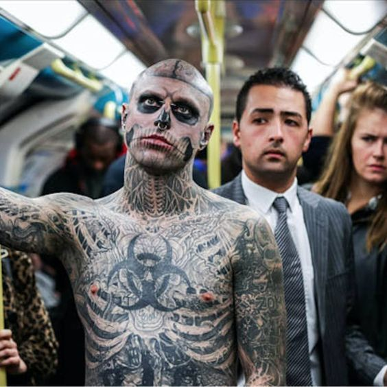 How Rick Genest Became Zombie Boy Rick Genest Skull Face Paint Zombie